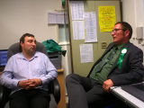 Simon Turner at Wellingborough and District Talking Newspaper with Jonathan Hornett